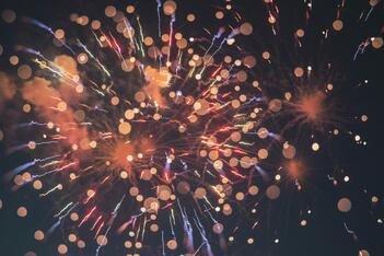 Fireworks on the fourth of July, a potential fire hazard