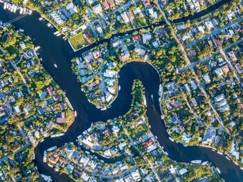 An aerial view of Fort Lauderdale Florida