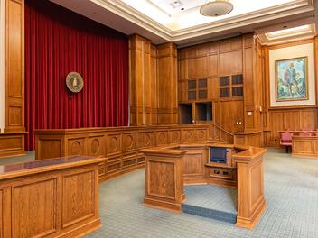 A court room