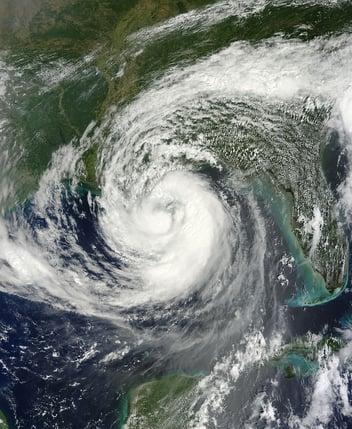 A satellite image of hurricane Isaac