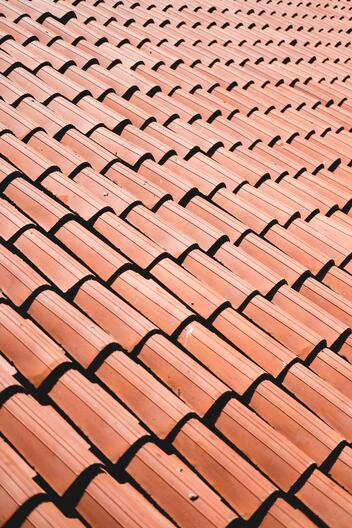 Perfectly maintained clay roof tiles