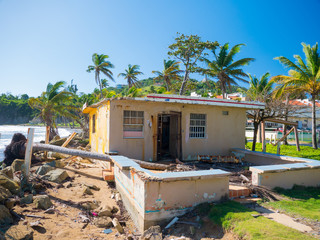 A storm damaged home in Palm Beach