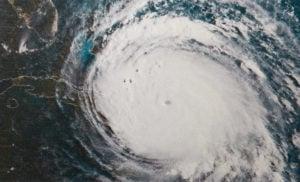A major hurricane over the coast of Florida