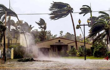 Hurricane damage in Florida after a recent storm.