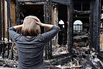 A woman in shock after her Boca Raton home burned down.