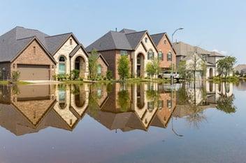 A Plantation, Florida neighborhood under heavy flooding after a disaster.