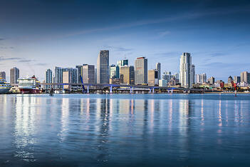 The skyline of Miami, Florida, home of United Claims Specialists.