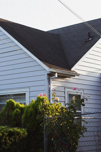 A properly maintained roof and gutter without any leaks