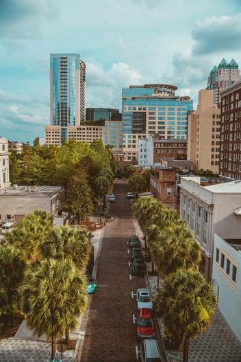 The downtown of Orlando Florida