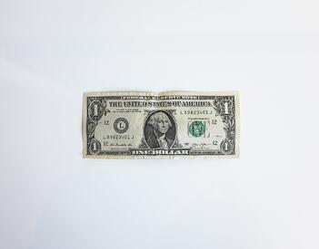 A single dollar bill