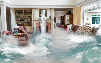 A Fort Lauderdale home is hit hard by severe flooding.