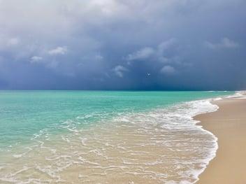 A hurricane approaches Miami.